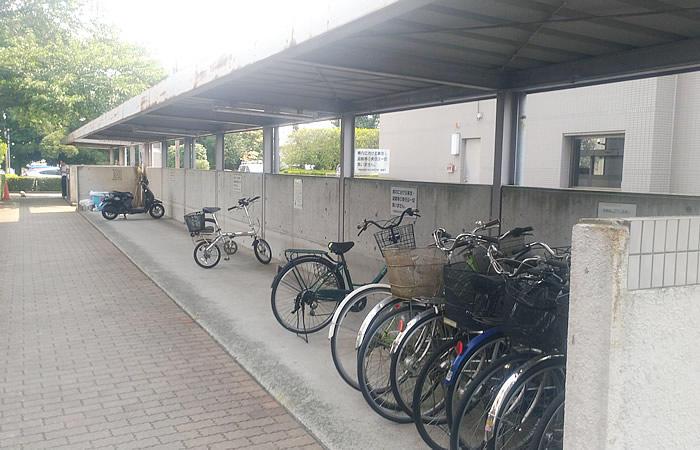 ハローワーク宇都宮の駐輪場