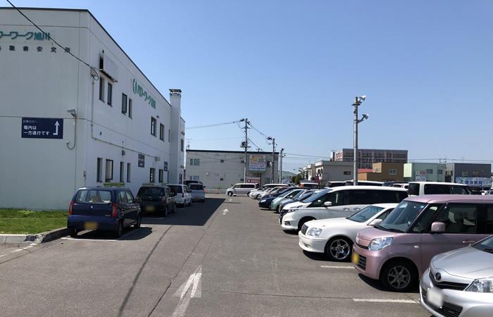 ハローワーク旭川の駐車場