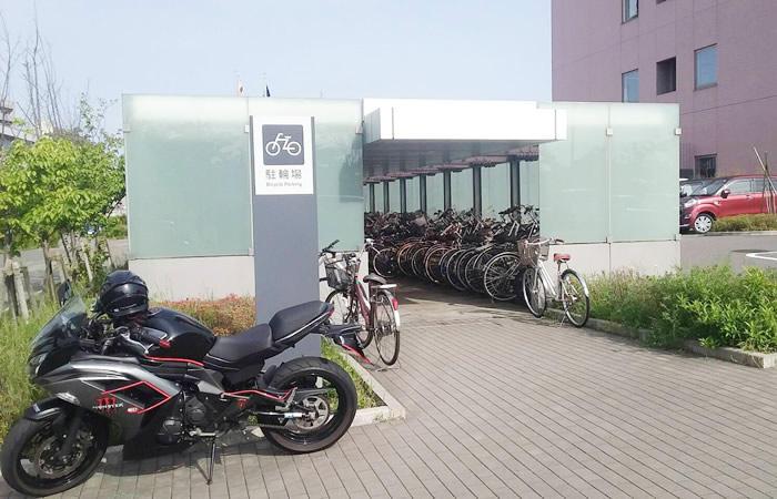 ハローワーク新潟の駐輪場