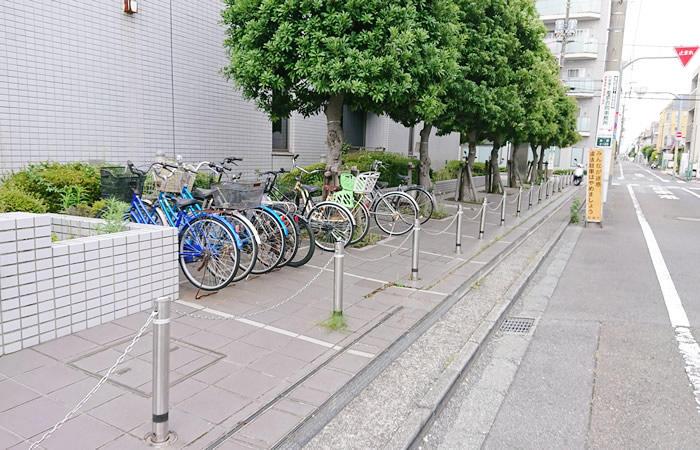 ハローワーク町田の駐輪場