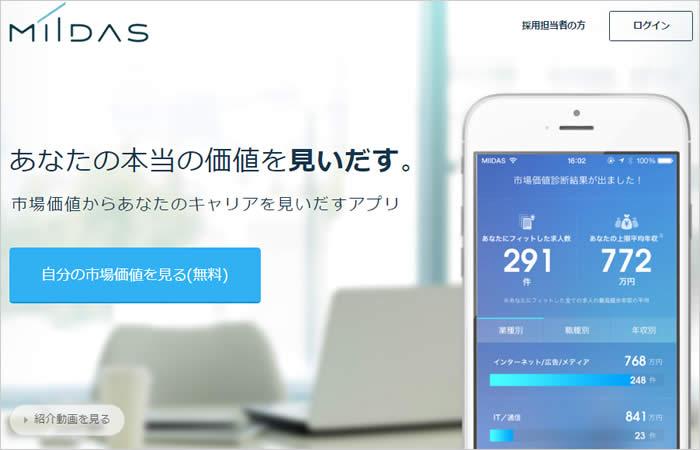 MIIDAS(ミイダス)のサイトイメージ画像